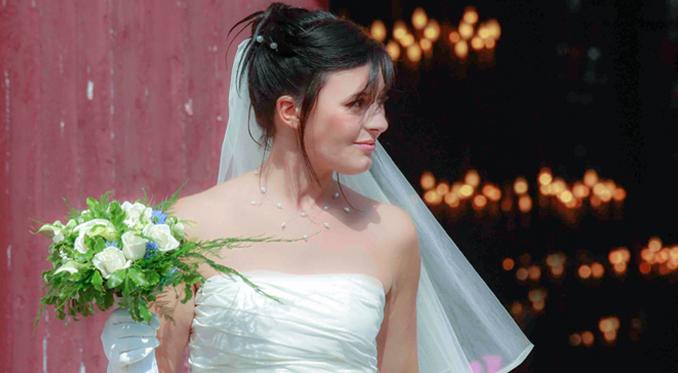 mariée illuminée