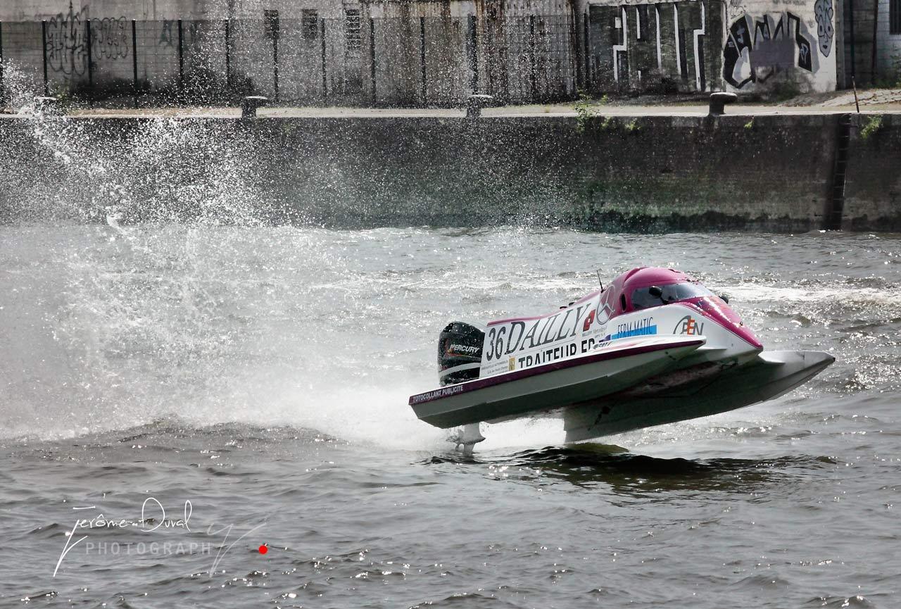 décollage d'un boat