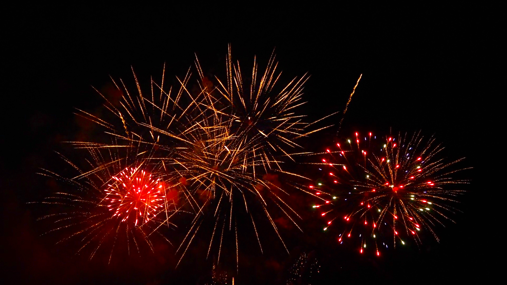 video du feu d'artifice de oissel 2015